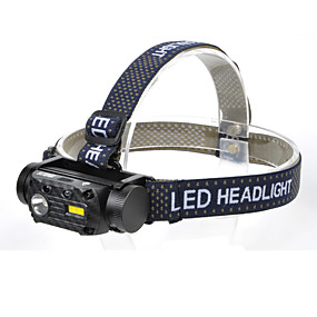 cheap Flashlights, Lanterns & Lights-QC101 Headlamps Waterproof Quick Release 800 lm LED LED 2 Emitters 3 Mode with Battery and USB Cable Waterproof Quick Release Camping / Hiking / Caving Everyday Use Diving / Boating USB White Light