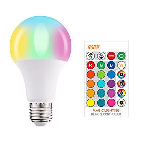 povoljno LED Smart žarulje-1pc 5 W Smart LED žarulje 350 lm E26 / E27 A60(A19) 3 LED zrnca SMD 5050 Smart Zatamnjen Party RGBW 85-265 V / RoHs