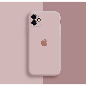 cheap Apple-Case For Apple iPhone 11 / iPhone 11 Pro / iPhone 11 Pro Max Shockproof / Dustproof / Pattern Back Cover Playing with Apple Logo / Tile / Solid Colored Silicone / Silica Gel