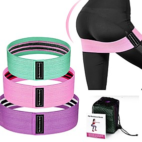 cheap Exercise & Fitness-Booty Bands Resistance Bands for Legs and Butt Sports Latex silk Home Workout Yoga Pilates Extra Wide Stretchy Flexible Thick Anti Slip Durable Helps to Lift, Tighten and Reshape the Plump Buttock