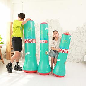 baratos Boxe-Saco de Boxe para Artes marciais Boxe Jovem Treinamento de Resistência Crossfit Perda de peso Preto Verde / Crianças