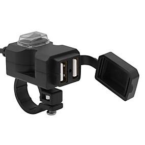Недорогие Запчасти для мотоциклов и квадроциклов-5v мотоцикл с переключателем Dual USB водонепроницаемый зарядное устройство / быстрая зарядка / множественная защита / огнестойкие