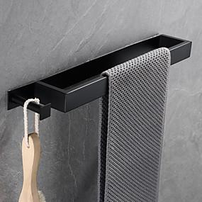 Недорогие Аксессуары для ванной-16-дюймовый держатель для ванной из нержавеющей стали вешалка для полотенец, настенный, аксессуары для ванной комнаты в современном стиле, нержавеющий, матовый черный, матовый, полированный