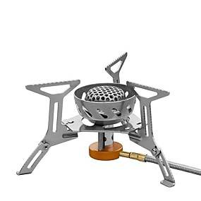 cheap Camping & Hiking Accessories-Stove Camping Stove Single Portable Compact Easy to Install for Stainless Steel Outdoor Camping / Hiking Picnic