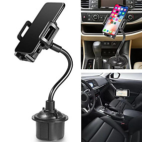 billige Køretøjsmonteret-universal biltelefonholder 360 graders drejelig vugge svanehals justerbar kop holder til mobiltelefon smartphone