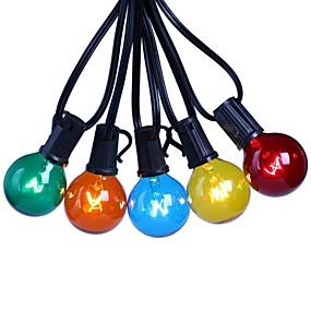 povoljno LED svjetla u traci-7.62m vodio festoon string svjetla 25 vodio vrt vrt popločati vanjski ukras žarulja oblika svjetla višeslojna volframova boja s e12 držačem svjetiljke vodootporan g40 us eu utikač
