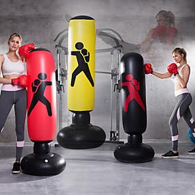 hesapli Egzersiz ve Fitness-Şişme Boks Boks Torbası için Taekwondo Dövüş sanatları Kick Boks Muay Thai Sızdırmaz Patlama-Proof Bağımsız Esnek Kuvvet Antrenmanı Stres Giderici Crossfit Siyah YAKUT Sarı / Çocuklar için