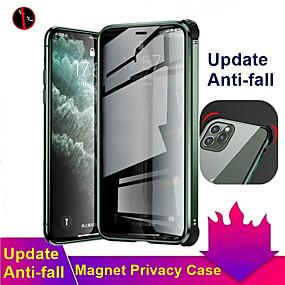 baratos Comprar por Modelo de Celular-caixa magnética anti-peep para iphone se2020 / 11/11 pro / 11 pro max / x / xs / xr / xs max / 8plus / 8 / 7plus / 7 caixa de vidro temperado dupla face tampa anti-peep caixa de proteção 360