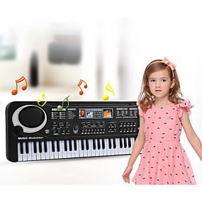 hesapli Klasik Oyuncaklar-Elektronik Klavye Mikrofon Piano iPad, iPod Touch ve iPhone ile çalışır. Eğitim Çok İşlevli 61 Tuşu Plastikler Unisex Genç Erkek Genç Kız Çocuklar Çocuklar için 1 pcs Mezuniyet Hediyeleri Oyuncaklar