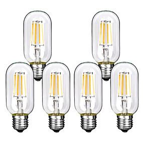 povoljno LED žarulje s nitima-6p t45 4w spiralno svjetlo LED žarulja sa žarnom niti 4w retro vintage svjetiljke ukrasna rasvjeta edison lampica
