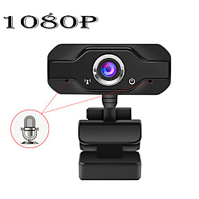 cheap Security & Safety-HD Webcam Built-in Dual Mics Smart 1080P Web Camera USB Pro Stream Camera for Desktop Laptops PC Game Cam For OS Windows10/8