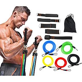 ieftine Exerciții & Fitness-Set Benzi de Rezistență 11 pcs Sport TPE Acasă antrenament Sală de fitness Pilates Antrenament Muscular pentru Corp Construcție Musculară Forța totală a corpului Pentru Bărbați Dame