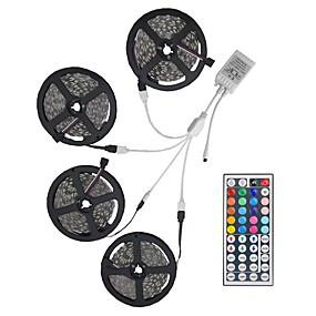 povoljno LED trakasta svjetla-20m svjetlosni setovi 600 led 5050 smd 10 mm rgb daljinski upravljač / rc / cuttable / zatamniv / povezljiv / pogodan za vozila / samoljepljiv / mijenja boju / ip44