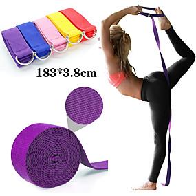 ieftine Exerciții & Fitness-Yoga Curea 1 pcs Sport Poliester Yoga Pilates Bikram Întins Ecologic Durabil Curea D-Ring Ajustabilă Fizioterapie întindere Mărește Flexibilitatea Pentru Bărbați Dame Talie & Spate Picior Abdomen