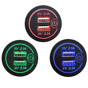 Недорогие Запчасти для мотоциклов и квадроциклов-P15-S сенсорный выключатель с терминалом 2.1a2.1a Dual USB автомобильный модифицированный зарядное устройство мобильного телефона12-24 В