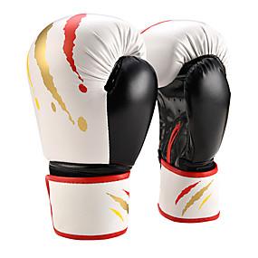 baratos Exercício e Fitness-Luvas de Box Para Artes marciais Muay Thai MMA Kickboxing Dedo Total Durável Absorção de impacto Respirável Resistente ao Choque Adulto Infantil Homens Mulheres - Branco Preto Vermelho