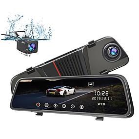 Недорогие Видеорегистраторы для авто-JUNSUN Junsun H11 1080p Full HD / HD Автомобильный видеорегистратор 170° Широкий угол КМОП-структура 10 дюймовый IPS Капюшон с Ночное видение / G-Sensor / Режим парковки 4 инфракрасных LED