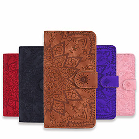 cheap Samsung Galaxy S10 Plus-Case For Samsung Galaxy A11 A21 A31 A41 Wallet Card Holder with Stand Full Body Cases Flower PU Leather PU Leather for Galaxy A70 A50 A50S A30S A30 A20 A20E M10 M11 M31 Note10 Plus Note10