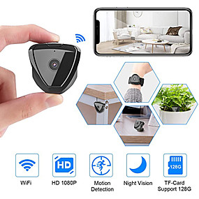 cheap Security & Safety-Mini Camera WiFi HD 1080P Mini Camera Wireless Camera Live Stream Motion Activated Camera Wireless Nanny Cam Security Camera for Home and Outdoor Newest Version