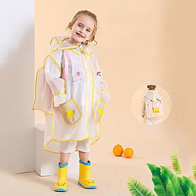 Недорогие Защита от дождя-детский плащ сплошной цвет мальчиков школьная сумка цельный пончо длинные прогулочные зрачки утолщение девочек плащ куртка