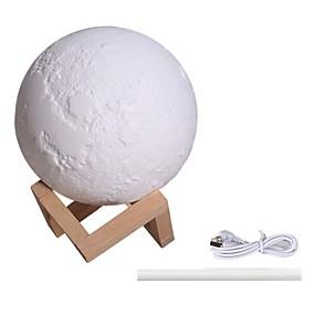 abordables Nouveaux Jouets-Lampes de nuit Humidificateur LED Lune Eclairage LED Adorable Alimenté par Port USB USB pour des cadeaux d'anniversaire et des cadeaux 1 pcs Usage quotidien