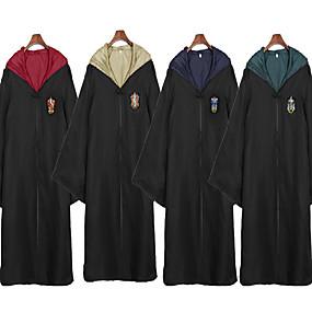 hesapli Cosplay ve Kostümler-Katil Büyülü Harry Gryffin d'or Slytherin Pelerin Erkek Kadın's Film Kostümleri Sarı / Kırmzı / Yeşil Terylene