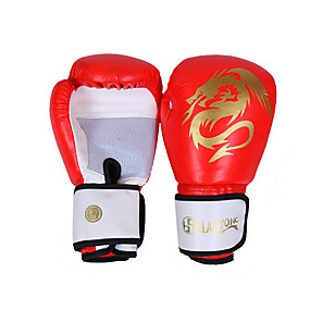 baratos Exercício e Fitness-Luvas de Exercício Luvas para Saco de Box Luvas para Treino de Box Para Fitness Boxe Esportes Relaxantes Muay Thai Dedo Total Prova-de-Água Esticar Protecção PU Vermelho Azul