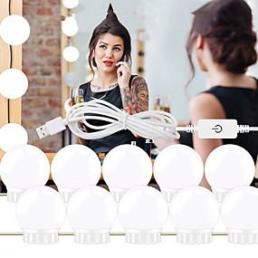 ieftine Becuri LED Glob-1set led machiaj oglindă lumină vanitate led becuri cosmetice luminate alcătuiesc oglinzi bec luminoase luminoase de perete pentru dressing dressing