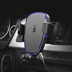 Недорогие Автомобильные зарядные устройства-360 градусов вращение ци автомобильный вентиляционный держатель беспроводной телефон зарядное устройство черный abs стенд крепление для iphone x