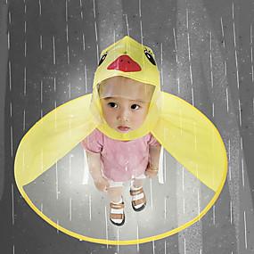 Недорогие Защита от дождя-милый плащ мультфильм утка дети плащ нло дети зонтик шляпа волшебные свободные руки мальчиков и девочек ветрозащитный пончо ребенка