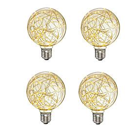 voordelige LED-gloeilampen-4 stks Creatieve Edison Gloeilamp Vintage Decoratie G95 LED Filament Lamp Koperdraad String E27 110 V 220 V Vervangen Gloeilampen