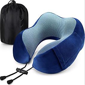 levne Cestování-cestovní polštář paměť pěna krk polštář hlava podpora měkký polštář pro spaní odpočinek letadlo cestování pohodlně a lehká vylepšená podpora