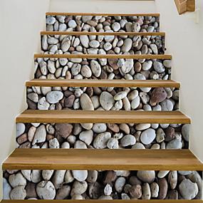 povoljno Ukrasne naljepnice-6pcs / set 3d kaldrma stubište stepenice naljepnica samoljepljiva diy stubište vodootporan pvc zid naljepnica home decor