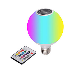 cheap LED Smart Bulbs-New LED Bluetooth Music Bulb With White Light Remote Control Colorful RGB Color-Changing Bluetooth Bulb