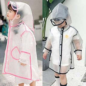 Недорогие Защита от дождя-Ева водонепроницаемый детский плащ прозрачный походы ребенок с капюшоном кемпинг плащ от дождя открытый защитные аксессуары крышка