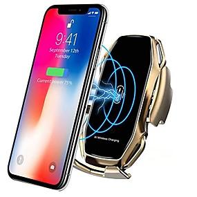 Недорогие Автомобильные зарядные устройства-Smart Sensor Автомобильный держатель телефона Быстрая зарядка Беспроводные зарядные устройства Универсальный автомобильный держатель Совместимость с iphone 11/11 pro / 11 pro max / xs max / xs / xr /