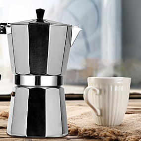 رخيصةأون المطبخ و السفرة-صانعة قهوة ألمنيوم مزينة بشكل دائم وعاء وعاء قهوة موكا عملي 300 مل