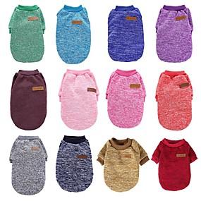 cheap Pet Supplies-Cat Dog Shirt / T-Shirt Dog Clothes Wine Pearl Pink Purple Costume Cotton Cartoon Casual / Daily XS S M L XL XXL