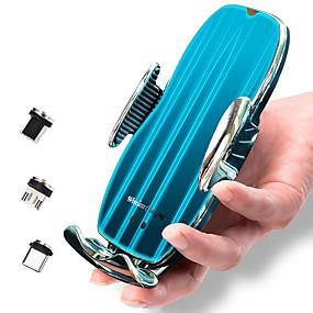 Недорогие Автомобильные зарядные устройства-15w беспроводной автомобильный ци циферблат быстрой зарядки смарт-инфракрасный сенсор зарядные устройства для телефонов с автозажимом и вентиляцией телефона совместимый держатель iphone 11/11 pro / 11