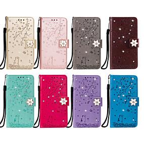cheap Sony-Case For Sony Xperia XA1 XA2 XZ XZ1 Z5 Card Holder Flip Pattern Full Body Cases cat sakura flower animal diamonds PU Leather TPU