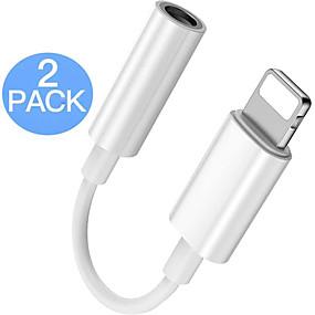 billige Periferiudstyr til computere-2-pack lyn til 3,5 mm hovedtelefonstikstikstik stik aux audio hovedtelefon dongle stereokabel til iphone support ios 13