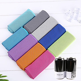 cheap Sportswear-Men's Women's Cooling Towel Portable Quick Dry Soft Sweat-wicking Solid Color Terylene Spring Summer for Climbing Exercise & Fitness Running Dark Grey Purple Yellow