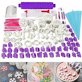 זול אביזרים וגאדג'טים למטבח-סט כלי אפיית עוגה בגודל 96 חלקים אספקת ערכת קישוט עוגת כלים
