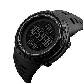 Недорогие Фирменные часы-Муж. Спортивные часы Армейские часы Наручные часы Цифровой Мода Защита от влаги Стеганная ПУ кожа Черный Цифровой - Brown / Gold Черный Красный Два года Срок службы батареи / Японский / Будильник