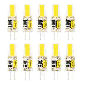 baratos Luminárias de LED  Duplo-Pin-10pcs 6pcs 6 w led sílica gel luzes de milho led bi-pin luzes g4 cob alta potência led festa criativa lustre de cristal decorativo fonte de luz lâmpadas economizadoras de energia lâmpadas branco