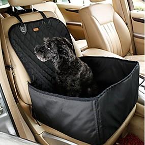 preiswerte Haustierzubehör-Hunde Katzen Auto Sitzbezug Haustier-Sitzerhöhung Mini Reise Bequem Solide Stoff Schwarz Braun
