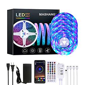 ieftine Benzi Lumină LED-mashang 20m led led benzi rgb led bandă de muzică sincronizare 1200leds benzi led 2835 SMD schimbare de culori led bandă led bluetooth controler și 40 cheie lumini led la distanță pentru dormitor
