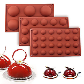 Χαμηλού Κόστους Κουζίνα και τραπεζαρία-μπάλα σφαίρα σιλικόνης για ζαχαροπλαστική ψήσιμο κέικ σοκολάτας καραμέλα φοντάν bakeware στρογγυλό σχήμα επιδόρπιο καλούπι διακόσμηση