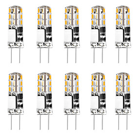 cheap LED Bi-pin Lights-10pcs 3 W 24 LED Silica Gel Corn Lights LED Bi-pin Lights  G4 3014SMD LED Creative Party Decorative Crystal Chandelier Light source Energy-saving Light Bulbs Warm White White AC/DC12 V