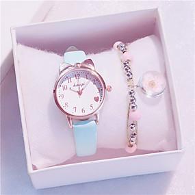 ieftine Cuarț ceasuri-copii Quartz Quartz Modă Cronograf Analog Alb Negru Albastru piscină / PU piele